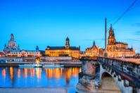Dresden historical center at twilight