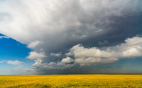 Incoming Storm Clouds over Kansas Field (XXXL)