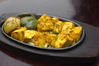 Traditional indian food paneer tikka