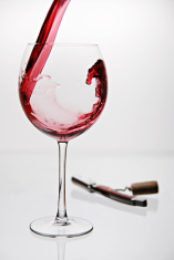 Glassful with cork-screw