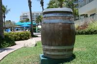 Giant trash barrel