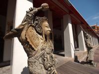 Thai stone soldier statue