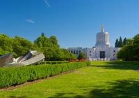 Oregon State Capitol Building and Park Area Blue Sky