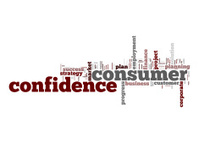 Consumer confidence word cloud