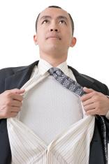 tearing his shirt