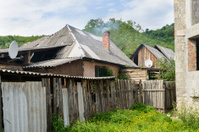 Gypsy village in Ukraine