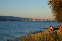 Vancouver shoreline before sunset