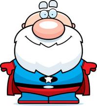 Cartoon Superhero Grandpa