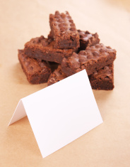Brownies with Blank Card