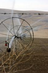 Eastern Washington fields being irrigated