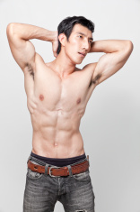 Image of muscle man posing