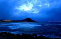 Zurriola beach by night