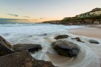 Sunrise at Sydney beach,