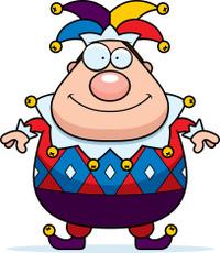 Cartoon Jester Smiling