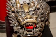 Bronze Guardian Lion Statue -- Beijing, China