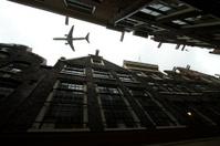 plane over Amsterdam