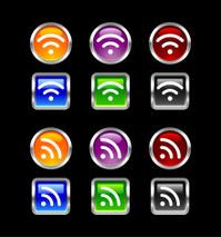 """Vii"" Icon Series | RSS & WiFi"