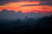 Sun setting over Bali
