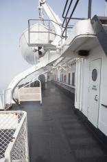 Walkway on the SS Badger on Lake Michigan