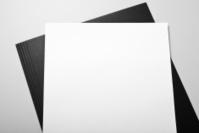 Blank letterhead and folder