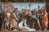 Bruges - Jesus falls under the cross relief