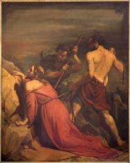 Brussels -  Jesus fall under cross.