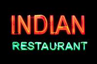 Neon light : Indian restaurant