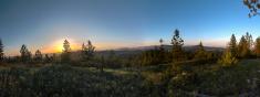 Sunset over Selkirks