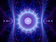blue space mandala