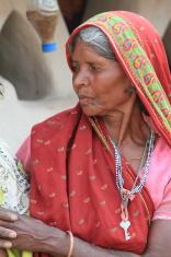 Indische Bäuerin