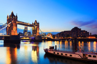 Tower bridge by night, London - England