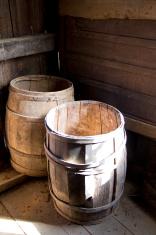 Wooden Barrels and Shadows