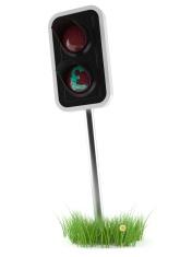 Pound traffic light