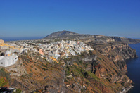 village on greek island santorini, greece