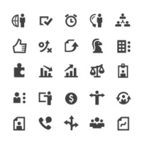 Set of business and human resource icons