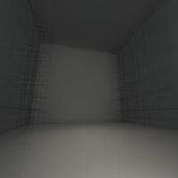 Abstract black empty room