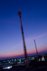 Phone antennas of frame on sky