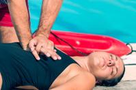 Lifeguard doing CPR