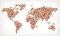 World Map royalty free Coffee Bean Pattern
