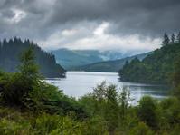 Typical Scottish Weather at Loch Ard, Scotland.