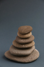 Meditation Rocks on a Blue Background