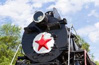 Detail of rail road locomotive