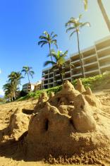 Sandcastle in Maui, Hawaii
