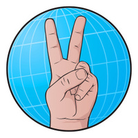 world peace hand