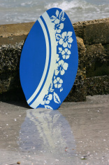 Blue Skim Board