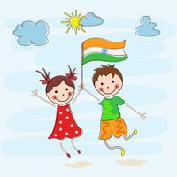 Indian Republic Day Celebration With Ashoka Stock Vector