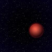 Cartoon Mars in open space
