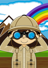 Mini Explorer with Binoculars Scene
