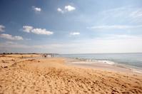 Algarve beach scene wide