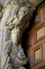 Medieval statue in Saint Vincent's Basilica, Avila